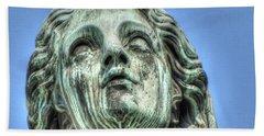 The Weeping Sculpture Beach Sheet by Yury Bashkin