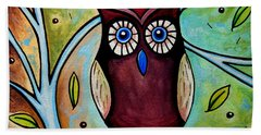 The Whimsical Owl Beach Sheet