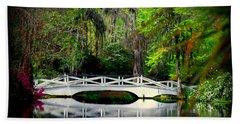 The White Bridge In Magnolia Gardens Sc Beach Sheet