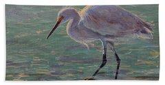 The White Heron Beach Towel