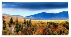 Beach Towel featuring the photograph The White Mountains Autumn by Tom Prendergast
