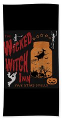 Beach Towel featuring the painting The Wicked Witch Inn by Georgeta Blanaru