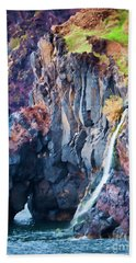 The Wild Atlantic Cliffs Of Camara De Lobos On The Islandof Madeira Beach Towel