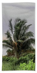 The Wild Palm Tree Beach Towel