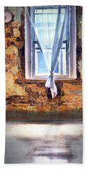 Beach Towel featuring the digital art The Window by Pennie McCracken