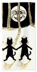 The Wink Six Black Pussy Cats Beach Towel