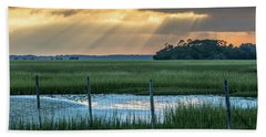 The Wire Fence -  Seabrook Island, Sc Beach Towel