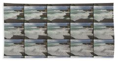The Worm Hole Water Behavior Sequence Beach Towel