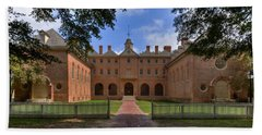 The Wren Building At William And Mary Beach Towel