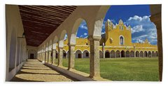 The Yellow City Of Izamal, Mexico Beach Sheet