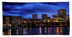 Beach Towel featuring the photograph Thea Foss Waterway Storm Brewing by Rob Green