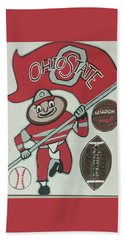 Thee Ohio State Buckeyes Beach Towel