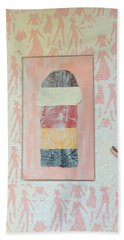 Beach Towel featuring the painting Them by Erika Chamberlin