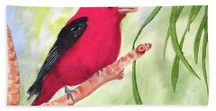 Theodore Tanager Beach Towel