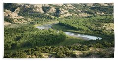 Theodore Roosevelt National Park - Oxbow Bend Beach Towel