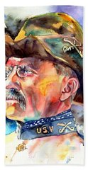 Theodore Roosevelt Painting Beach Towel