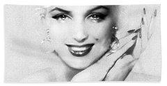Theo's Marilyn 133 Bw Beach Towel