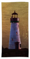 There Is A Lighthouse Beach Towel by B Wayne Mullins