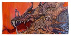 There Once Were Dragons Beach Towel