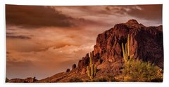 Beach Towel featuring the photograph There's Gold In Them Hills  by Saija Lehtonen