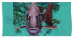 Beach Towel featuring the painting There's Something Fishy Going On Here by Billie Colson