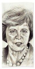 Theresa May Portrait Beach Towel