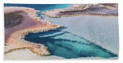 Beach Towel featuring the photograph Thermal Pool At Yellowstone by Lon Dittrick