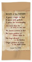 These Are The Rules Beach Sheet