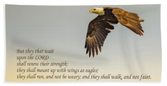 They That Wait Upon The Lord Beach Towel by John Roberts