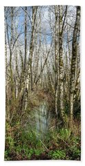 Thickets And Marsh Beach Towel by Greg Nyquist