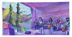Beach Sheet featuring the painting Thin Air At Dillon Amphitheater by David Sockrider