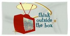 Think Outside The Box Beach Sheet
