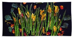 Think Spring Asparagus Beach Towel
