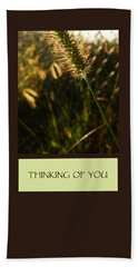 Thinking Of You Beach Towel by Mary Ellen Frazee