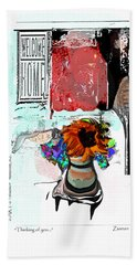 Thinking Of You No.7 Beach Towel