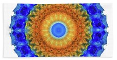 Third Eye Mandala Art By Sharon Cummings Beach Towel