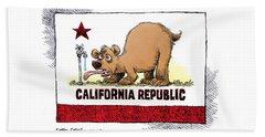 Thirsty California Flag Beach Towel