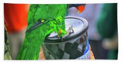 Thirsty Parrot Beach Towel by Dennis Baswell