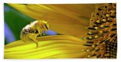 This Bee Needs A Bath Beach Towel
