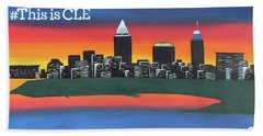 This Is Cle Beach Towel by Cyrionna The Cyerial Artist