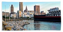 This Is Cleveland Beach Towel by Frozen in Time Fine Art Photography