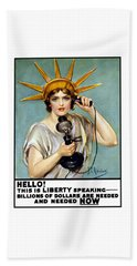 This Is Liberty Speaking - Ww1 Beach Towel by War Is Hell Store