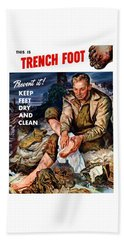 This Is Trench Foot - Prevent It Beach Towel