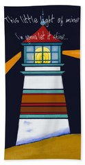 Beach Towel featuring the painting This Little Light Of Mine by Glenna McRae