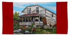 Beach Towel featuring the painting This Old House 2 by Marilyn  McNish