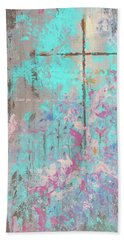 Beach Towel featuring the painting This Side Of The Cross by Karen Kennedy Chatham