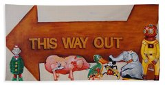 This Way Out Beach Towel