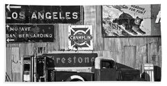 This Way To L.a. Beach Towel by Marius Sipa