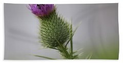 Thistle And Bee 2 Beach Towel