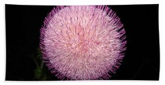 Thistle Bloom At Night Beach Sheet